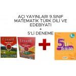 Açı Yayınları 9. Sınıf Türk Dili ve Edebiyatı Matematik Soru Bankası + Deneme Seti