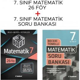 Tudem Yayınları 7. Sınıf Matematik Beceri Temelli Soru Bankası + 3D Föy Seti